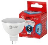 Лампа светодиодная (ECO LED) GU5.3 MR16 9Вт 4000K Белый свет Эра ECO LED MR16-9W-840-GU5.3 Матовая колба