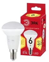 Светодиодная (ECO LED) лампа Е14 R50 Рефлектор 6Вт 480Лм 2700К Теплый свет Эра ECO LED R50-6W-827-E14 Матовая колба