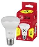 Светодиодная (ECO LED) лампа Е27 R63 Рефлектор 8Вт 640Лм 2700К Теплый свет Эра ECO LED R63-8W-827-E27 Матовая колба