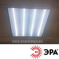 Светильник светодиодный офисный Армстронг 595х595х19мм Эра SPO-6-36-6K-P Призма 36Вт 6500К Холодный свет с LED-драйвером. (Универсальный встраиваемый / накладной)