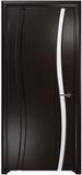Дверь межкомнатная ГАРМОНИЯ Фантазия 1 Венге / Белый триплекс (Натуральный шпон)