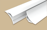 Галтель ПВХ с мягкими краями Белая 2,5 метра