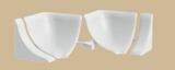 Набор комплектующих Галтели с мягкими краями ПВХ Идеал Белый