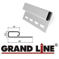 Финишная планка Grand Line Белая (длина-3м)