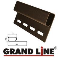 Финишная планка Grand Line Коричневая (длина-3м)