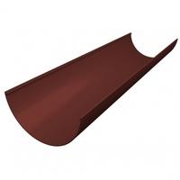 Желоб водосточный ПВХ 120мм Grand Line (Гранд Лайн) Стандарт Шоколадный, длина-3метра