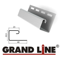 J-профиль Grand Line Белый (длина-3м)