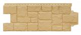 Фасадная панель Grand Line Крупный камень Стандарт Песочный (982х383мм)