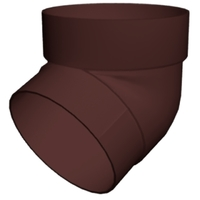 Колено трубы 67° ПВХ Grand Line (Гранд Лайн) Стандарт Шоколадное