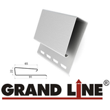 J-профиль широкий (Наличник) Grand Line Белый (длина-3,05м)
