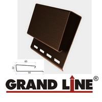 J-профиль широкий (Наличник) Grand Line Коричневый (длина-3,05м)