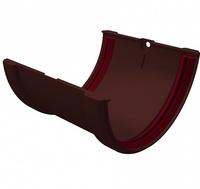 Соединитель желоба 120мм ПВХ Grand Line (Гранд Лайн) Стандарт Шоколадный