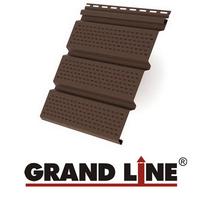 Софит Grand Line America T4 Коричневый полностью перфорированный (Размер:3х0,305м)
