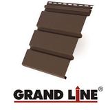 Софит Grand Line America T4 Коричневый без перфорации (Размер:3х0,305м)