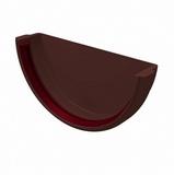 Заглушка желоба 120мм ПВХ Grand Line (Гранд Лайн) Стандарт Шоколадная