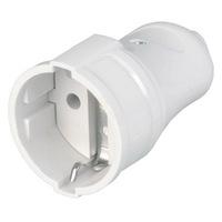 Штепсельное гнездо 16А SmartBuy 250В белое с заземлением (SBE-16-S01-wz)