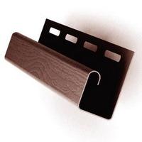 J-профиль Коричневый для сайдинга, софита и блок-хауса (длина-3м)