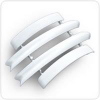 Набор комплектующих Белый для полукруглого наличника с кабель-каналом Нк70 Ideal (Идеал)