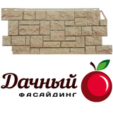Фасадная панель (цокольный сайдинг) fineber фасайдинг дачный камень дикий бежевый (1117х463мм)