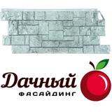 Фасадная панель (цокольный сайдинг) fineber фасайдинг дачный камень дикий светло-серый (1117х463мм)