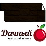 Фасадная панель (цокольный сайдинг) fineber фасайдинг дачный камень крупный коричневый (1080х452мм)