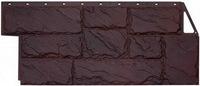 Фасадная панель FineBer Камень крупный Коричневый (1080х452мм)
