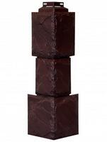 Угол наружный FineBer Камень крупный Коричневый