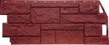 Фасадная панель (цокольный сайдинг) fineber камень природный красно-коричневый (1085х447мм)