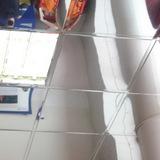Металлический кассетный потолок с кассетой Албес Tegular 45° Суперхром 595х595мм