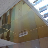 Металлический кассетный потолок с кассетой Албес Суперзолото Tegular 595х595мм AP600A6/45°/Т-24 (толщина-0,32мм)