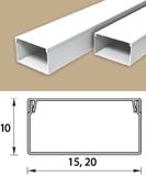 Кабель-канал для электропроводки 15х10мм, длина 2 метра, Белый пластиковый
