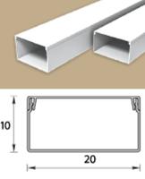 Кабель-канал (Короб) Идеал 20х10мм белый пластиковый (ПВХ) для электропроводки, длина 2м