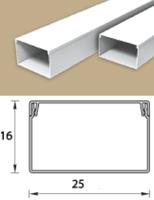 Кабель-канал (Короб) Идеал 25х16мм белый пластиковый (ПВХ) для электропроводки, длина 2м