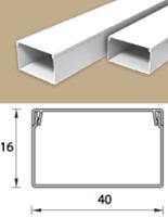 Кабель-канал (Короб) Идеал 40х16мм белый пластиковый (ПВХ) для электропроводки, длина 2м