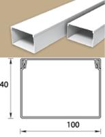 Кабель-канал (Короб) Идеал 100х40мм белый пластиковый (ПВХ) для электропроводки, длина 2м
