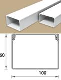 Кабель-канал (Короб) Идеал 100х60мм белый пластиковый (ПВХ) для электропроводки, длина 2м