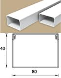 Кабель-канал (Короб) Идеал 80х40мм белый пластиковый (ПВХ) для электропроводки, длина 2м