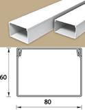 Кабель-канал (Короб) Идеал 80х60мм белый пластиковый (ПВХ) для электропроводки, длина 2м
