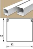 Кабель-канал (Короб) Идеал 12х12мм белый пластиковый (ПВХ) для электропроводки, длина 2м