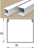 Кабель-канал (Короб) Идеал 16х16мм белый пластиковый (ПВХ) для электропроводки, длина 2м