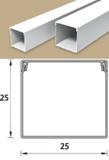 Кабель-канал (Короб) Идеал 25х25мм белый пластиковый (ПВХ) для электропроводки, длина 2м