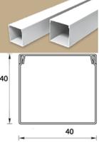 Кабель-канал (Короб) Идеал 40х40мм белый пластиковый (ПВХ) для электропроводки, длина 2м