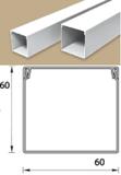 Кабель-канал (Короб) Идеал 60х60мм белый пластиковый (ПВХ) для электропроводки, длина 2м