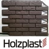 Фасадная панель Holzplast Wandstein Кирпич Темно-коричневый Бесшовный (795х595мм)