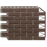 Фасадная панель Фасайдинг Дачный (Fineber) Баварский Кирпич Темно-коричневый (795х595мм)