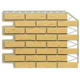 Фасадная панель Фасайдинг Дачный (Fineber) Баварский Кирпич Песочный (795х595мм)