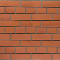 """Фасадная панель Доломит """"Кирпич"""" Красный (1840х215мм)"""