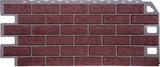 Фасадная панель (цокольный сайдинг) fineber кирпич красный (1137х470мм)