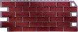 Фасадная панель (цокольный сайдинг) fineber кирпич красный обожженый (1137х470мм)