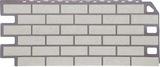 Фасадная панель (цокольный сайдинг) fineber кирпич мелованный белый (1137х470мм)